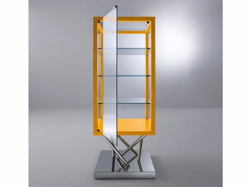 SA03 - Vitrine en acier et verre (55x55x145cm)