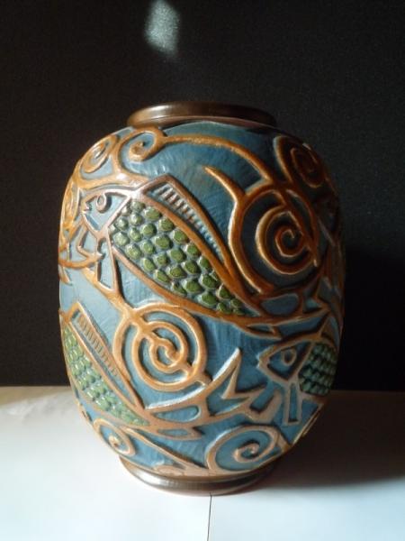Vase aux poissons