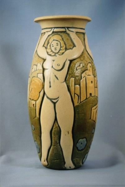 Vase Cariatides - André Legrand
