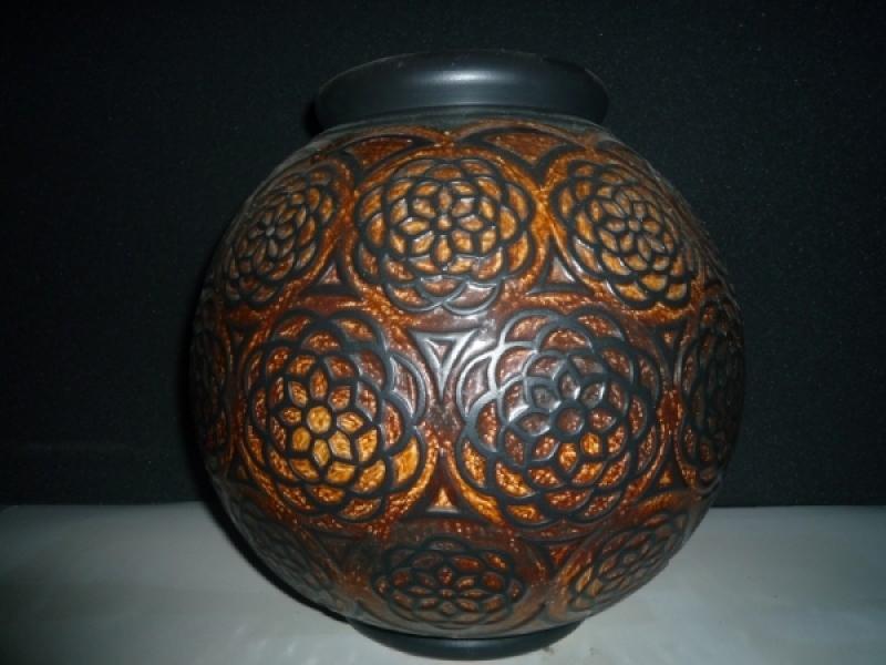 Vase boule orientaliste